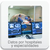 Datos por hospitales y especialidades