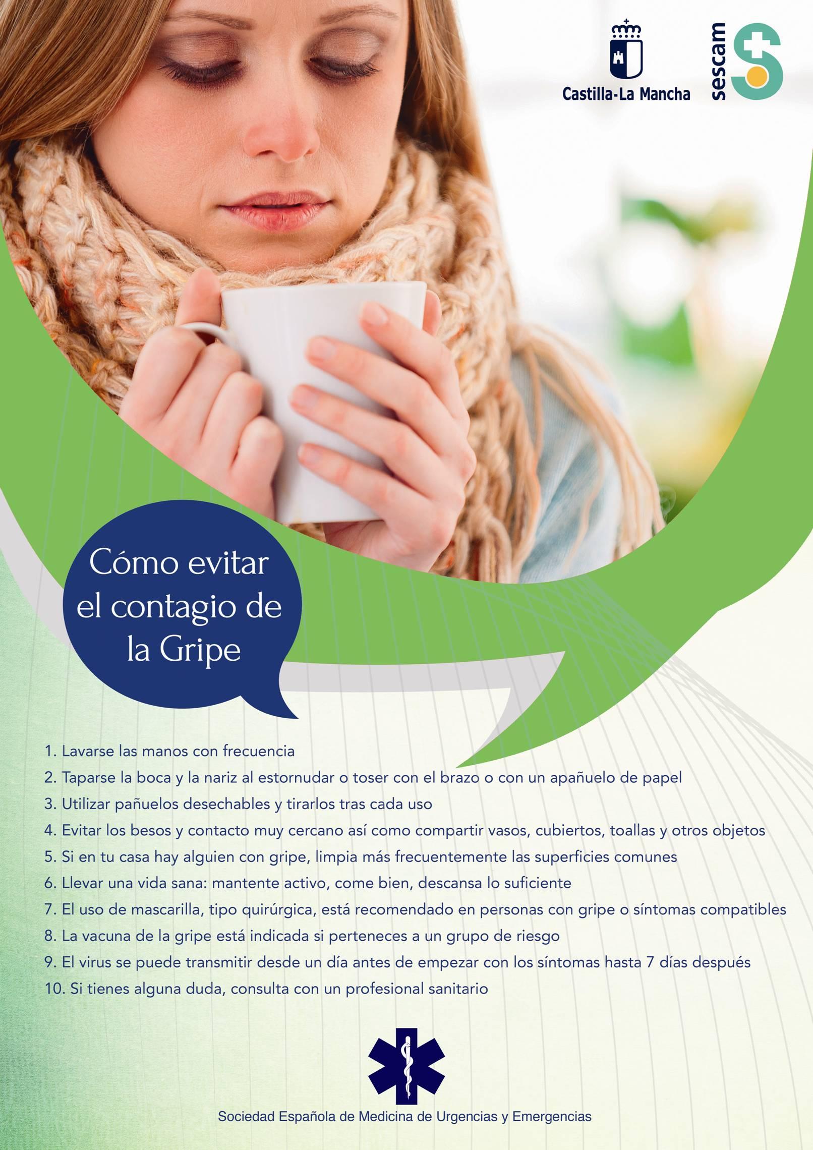 Cómo evitar el contagio de gripe (archivo PDF, abre en nueva página)