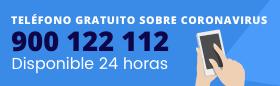 Información sobre Coronavirus 24h 900 122 112