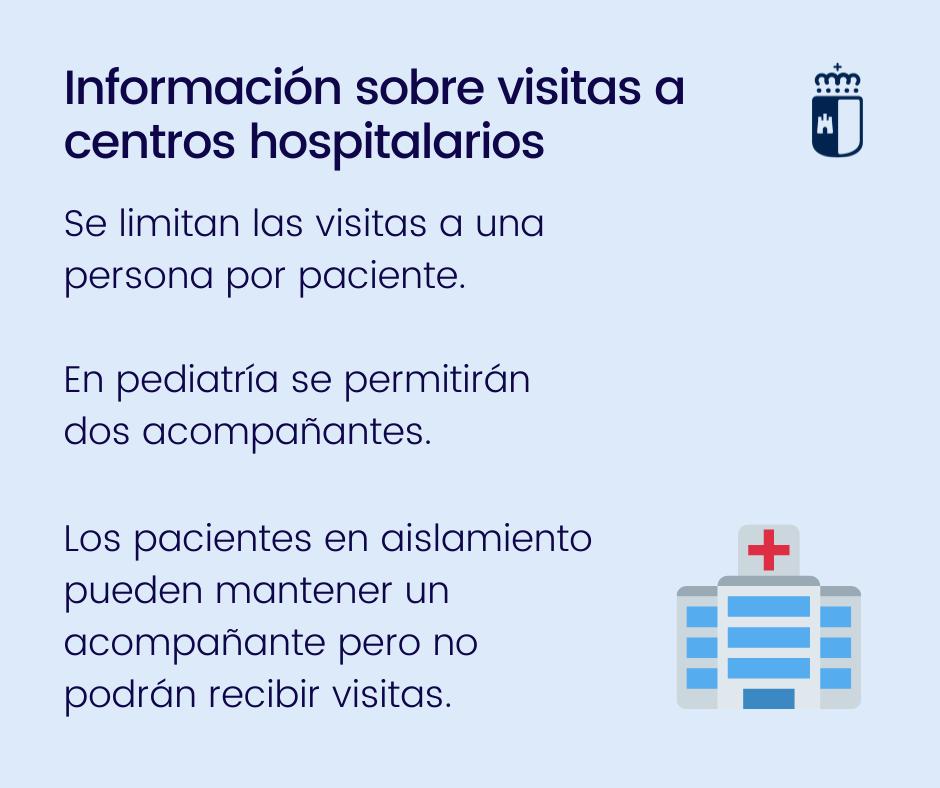 Información sobre visitas a centros hospitalarios