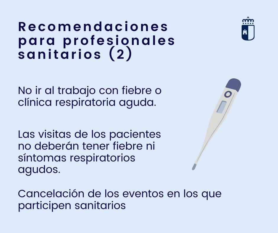 Recomendaciones para profesionales sanitarios (I)