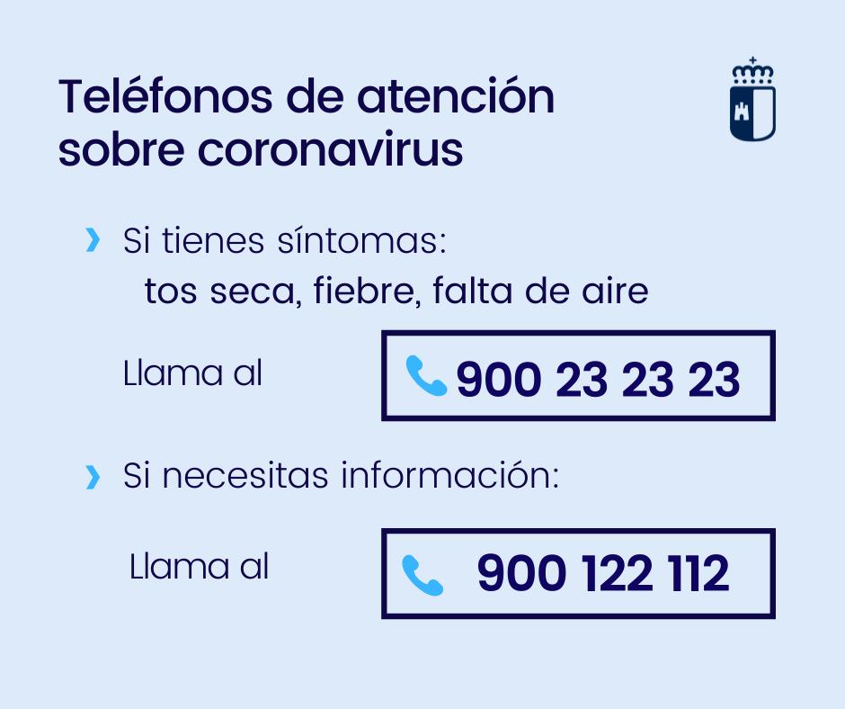 Teléfonos de atención sobre el Coronavirus