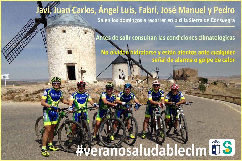 Imagen de JAVI, JUAN CARLOS, ÁNGEL LUIS, FABRI, JOSÉ MANUEL Y PEDRO, Clclistas. Archivo PDF (Abre en nueva página)