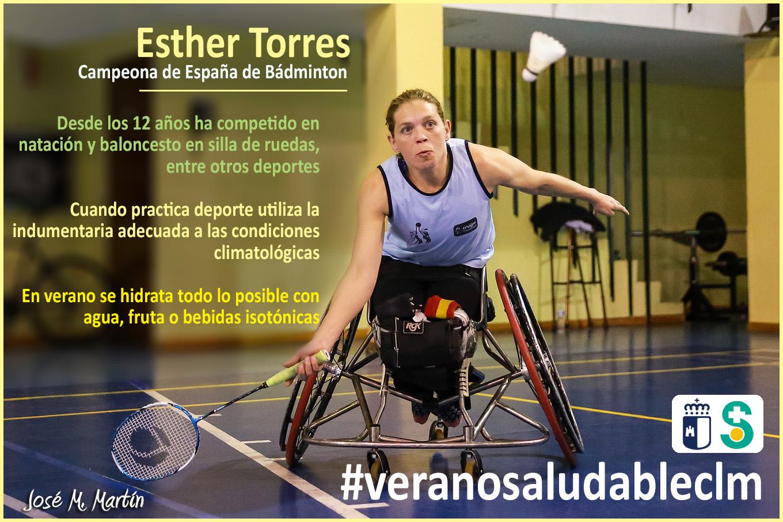 Imagen de ESTHER TORRES Campeona de España de Bádminton. Archivo PDF (Abre en nueva página)
