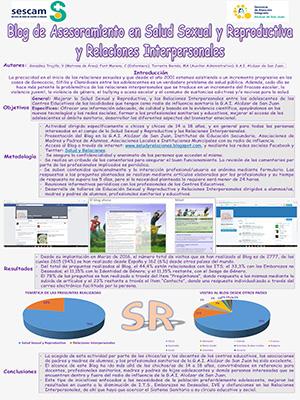 Póster Blog de asesoramiento en salud sexual y reproductiva y relaciones interpersonales. Archivo PDF (Abre en nueva página)