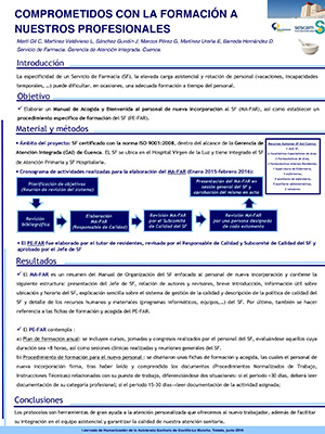 Póster Comprometidos con la formación de nuestros profesionales. Archivo PDF (Abre en nueva página)