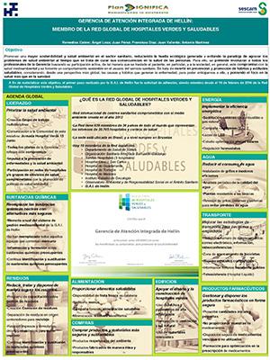 Póster Gerencia de Atención Integrada de Hellín: Miembro de la Red Global de Hospitales Verdes y Saludables. Archivo PDF (Abre en nueva página)