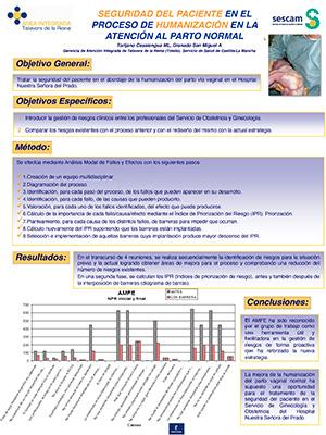 Póster Seguridad del paciente en el proceso de HUMANIZACIÓN en la atención al parto normal. Archivo PDF (Abre en nueva página)