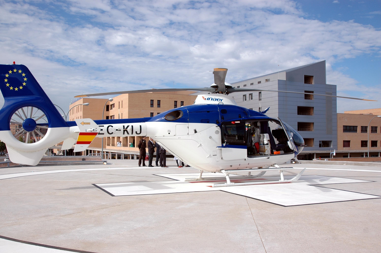 El helipuerto del hospital nuestra se ora del prado de - La reina del mueble talavera ...