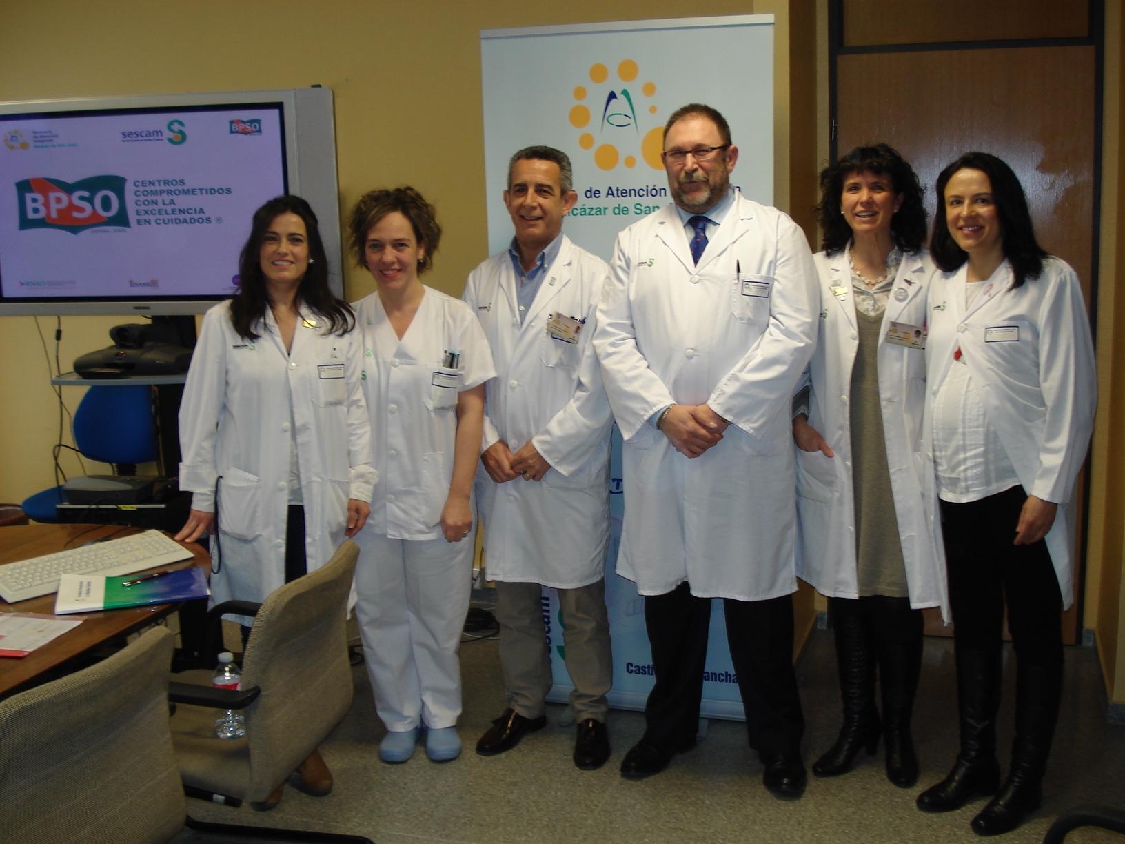 Dirección del Mancha Centro junto con las enfermeras implicadas en el programa