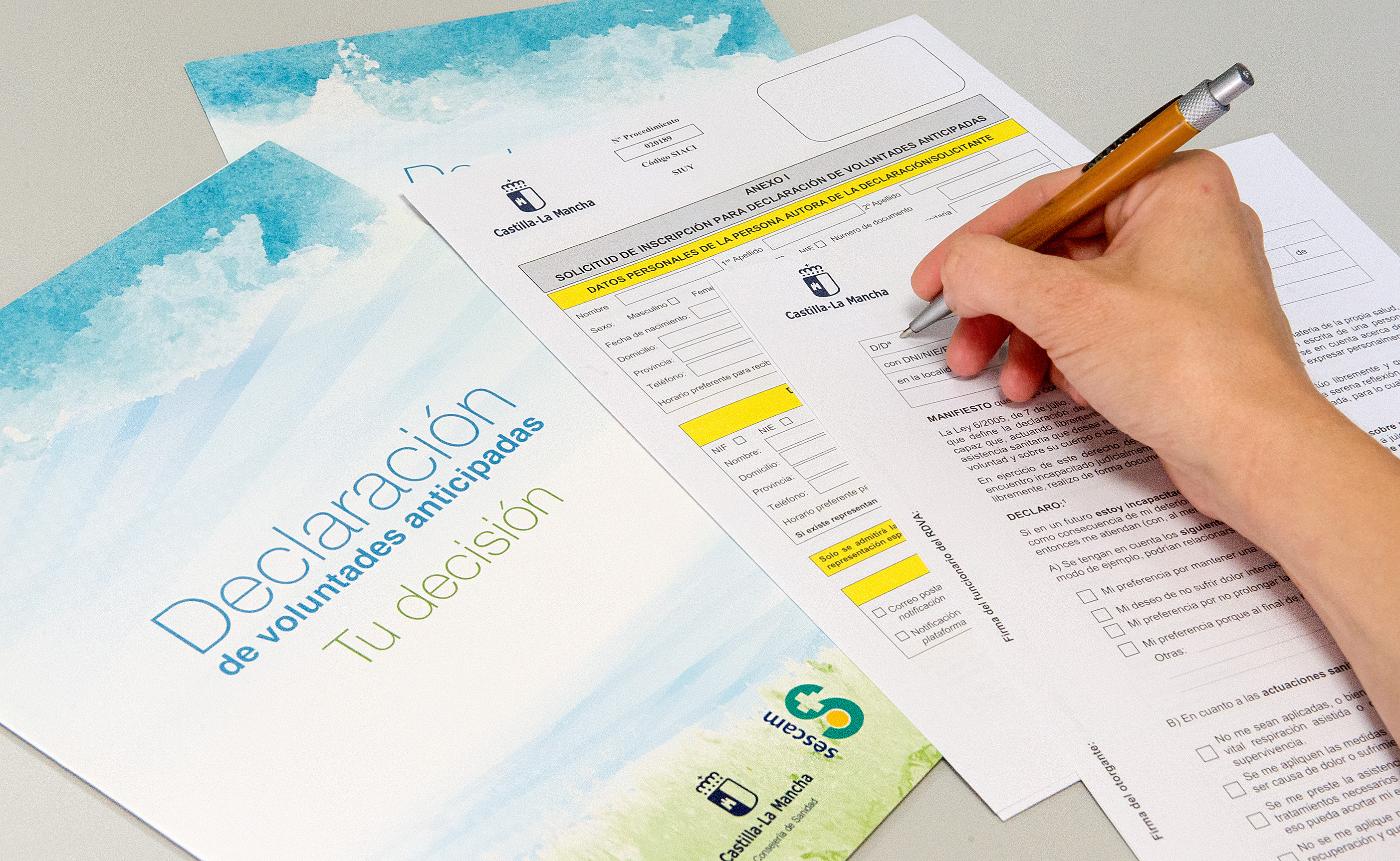 1.046 personas se inscribieron en el Registro de Voluntades Anticipadas de Castilla-La Mancha a lo largo del pasado año