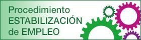 Banner de enlace a Procedimiento de estabilización de empleo.