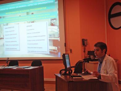 Ponencia del doctor Francisco Sánchez de Pedro, principal organizador del curso