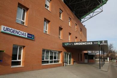 Acceso del Servicio de Urgencias del Hospital de Puertollano (Ciudad Real)