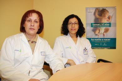 Coordinadoras de trasplantes del Hospital Mancha Centro, Felicidad Romero (i) y Carmen Martín