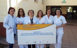 Enfermeras de la Unidad de Media Estancia de Salud Mental de Cuenca, premiadas por un proyecto sobre calidad de vida y salud física